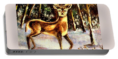 Portable Battery Charger featuring the painting Hinds Feet by Hazel Holland