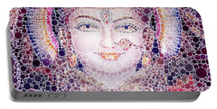 Hindu Eyes, Pop Art By Mb Portable Battery Charger