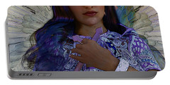 Portable Battery Charger featuring the painting Hindustani Angel by Suzanne Silvir