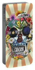 Hippie Retro Skull 2 Portable Battery Charger