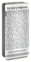 Hippocratic Oath, 1938 Portable Battery Charger