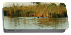 Hippos, South Africa Portable Battery Charger