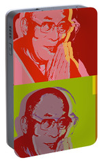 Portable Battery Charger featuring the digital art His Holiness The Dalai Lama Of Tibet by Jean luc Comperat