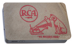 Portable Battery Charger featuring the photograph His Masters Voice Rca by Edward Fielding