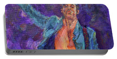 His Purpleness - Prince Tribute Painting - Original Art Portable Battery Charger