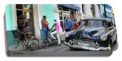 Historic Camaguey Cuba Prints The Cars 2 Portable Battery Charger