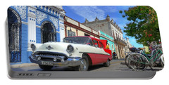 Historic Camaguey Cuba Prints The Cars Portable Battery Charger