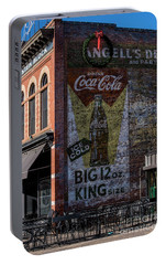 Portable Battery Charger featuring the photograph Historic Coca Cola Brick Ad - Fort Collins - Colorado by Gary Whitton