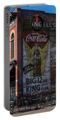 Historic Coca Cola Brick Ad - Fort Collins - Colorado Portable Battery Charger by Gary Whitton