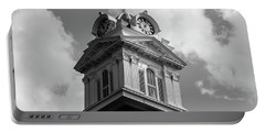 Historic Courthouse Steeple In Bw Portable Battery Charger