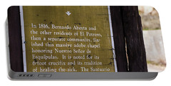 Historic Marker For The Santuario Portable Battery Charger