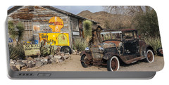 Historic Route 66 - Old Car And Shed Portable Battery Charger