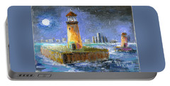 Historical 1859 South Channel Lights Full Moon Portable Battery Charger