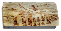 History In Color. D Day, Omaha Beach, Wwii Portable Battery Charger