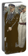 Hitler And Goring Agfa Color Circa 1941 Color Added 2016 Portable Battery Charger