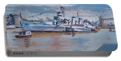 Hms Belfast Shows Off In The Sun Portable Battery Charger