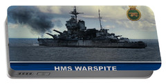 Portable Battery Charger featuring the digital art Hms Warspite by John Wills