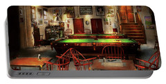 Portable Battery Charger featuring the photograph Hobby - Pool - The Billiards Club 1915 by Mike Savad
