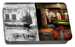 Portable Battery Charger featuring the photograph Hobby - Pool - The Billiards Club 1915 - Side By Side by Mike Savad