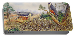 Hobbys At Their Nest Portable Battery Charger by Carl Donner