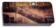 Hoboken Train Station - Vintage Beauty Of New Jersey Portable Battery Charger
