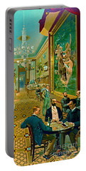 Hoffman House Bar 1890 Portable Battery Charger by Padre Art