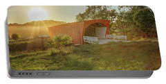 Portable Battery Charger featuring the photograph Hogback Covered Bridge 2 by Susan Rissi Tregoning