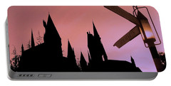Portable Battery Charger featuring the photograph Hogwarts Castle ... by Juergen Weiss