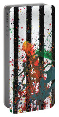Portable Battery Charger featuring the painting Hogwarts by Robbie Masso