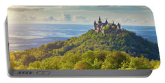Hohenzollern Castle Sunset Portable Battery Charger by JR Photography