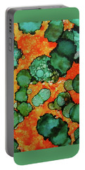 Portable Battery Charger featuring the painting Hojo Flow Ink #10 by Sarajane Helm