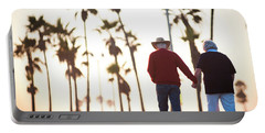 Hold On To Your Love Portable Battery Charger by Ralph Vazquez