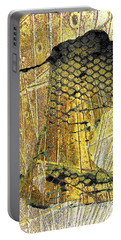 Portable Battery Charger featuring the mixed media Hole In The Wall by Tony Rubino