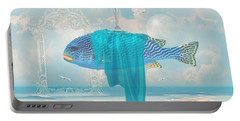 Portable Battery Charger featuring the digital art Holiday At The Seaside by Alexa Szlavics