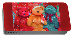 Portable Battery Charger featuring the photograph Holiday Bears by Diane Alexander