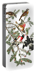 Portable Battery Charger featuring the photograph Holiday Birds by Munir Alawi