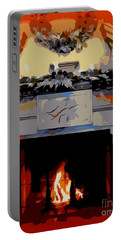 Holiday Fireplace #1 Portable Battery Charger