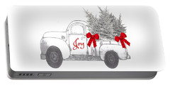 Portable Battery Charger featuring the digital art Holiday Joy Chesilhurst Farm by Kim Kent