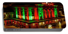 Holiday Lights At Union Station Denver Portable Battery Charger