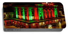 Holiday Lights At Union Station Denver Portable Battery Charger by Teri Virbickis
