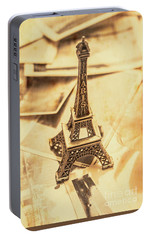 Holiday Nostalgia In Vintage France Portable Battery Charger by Jorgo Photography - Wall Art Gallery