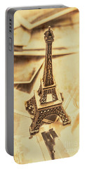 Holiday Nostalgia In Vintage France Portable Battery Charger
