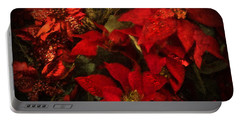 Holiday Painted Poinsettias Portable Battery Charger