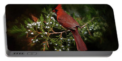 Holiday Red Cardinal Portable Battery Charger