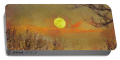 Portable Battery Charger featuring the mixed media Hollow's Eve by Trish Tritz