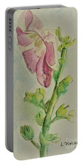 Hollyhock The Harbinger Of Summer Portable Battery Charger