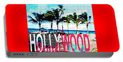 Portable Battery Charger featuring the photograph Hollywood Beach Fla Poster by Dick Sauer