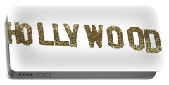 Hollywood Gold Glitter Sign Portable Battery Charger