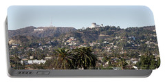 Hollywood Hills From Sunset Blvd Portable Battery Charger
