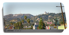 Hollywood Sign Above Sunset Blvd. Portable Battery Charger